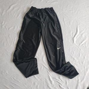 Vtg Nike tear away track pants black large snaps
